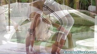 Flexible blonde Mia Malkova receives oral