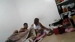 Indian mom and son real spy cam