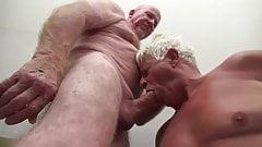 silver daddy enjoying a nice dick