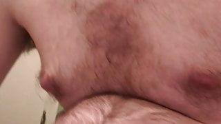 Chubby man jerking off