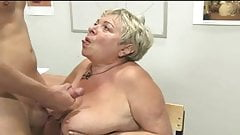 Chunky Granny Riding Young Guys Cock