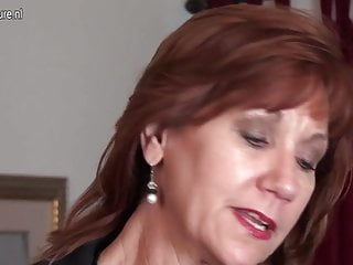 Matures first video - American mature mom strips first and plays with her toy