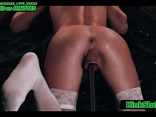 Fucking machine makes ebony cum - Unreal fuck machine makes pussy squirt