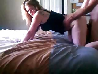 Blonde bitches bent over pussy - Amateur blonde wife bent over bed