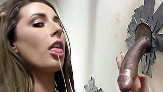 Booty Paige Turnah Sucks Big Black Cock - Gloryhole