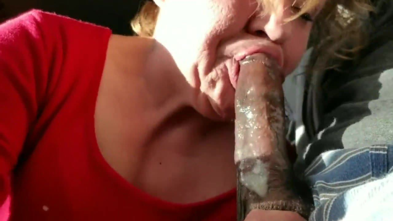 Ebony Blowjob Swallow White