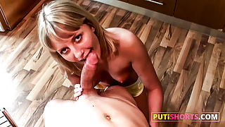 Pretty Russian Teen Fucked In the Ass On Table