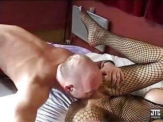 Big cocks comm Eva en bas resille baise comme une salope