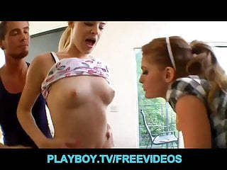 Free playboy tv porn Sexy schoolgirls skip class for a house party