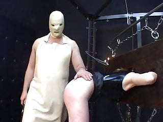 Hardcore male bondage - Rubber male dom 2