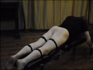Male whipping femdom - Male whipped with a horse whip