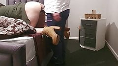 nice ass Step mom fucked through panties by step son with 12 inch BBC taboo