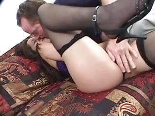 Tall milf with big tits - Tall milf deep throats a stiff one