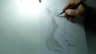 Nude  art beautiful girl