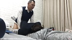 Father-in-law and son's wife have an affair at home