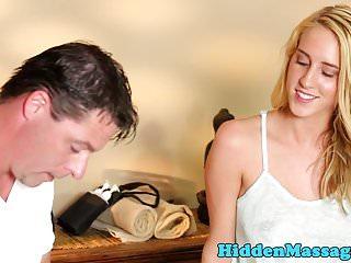 Spycam breast massage videos - Cocksucking massage babe filmed on spycam