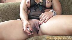 Blonde MILF Skylar Rae hot solo vibrator pussy play