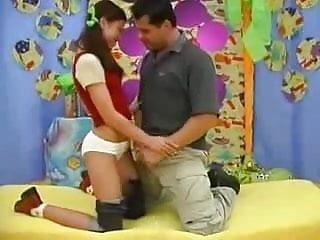 Teenie fucks moms boyfriend Teeny with her boyfriend