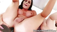 Natalie Mars and Marissa Minx bouncing on thick toys