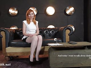 Old redhead tv - Pantyhose upskirt flashing during tv show by jeny smith