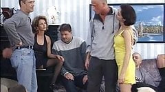 German Orgy With Mature Woman