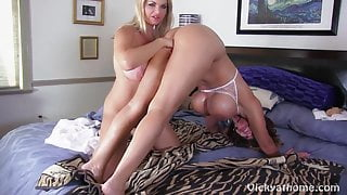 Busty MILFS Vicky Vette & Deauxma Get Each Other Off Live!