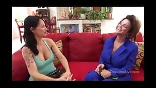 Deauxma and Angie Noir in the real estate agent