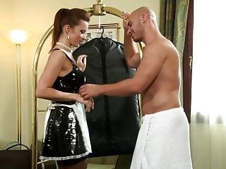Big bondage french maid tit - French maid