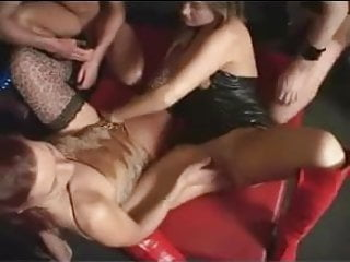 Great clunking fist Germans in group-sex and great fisting