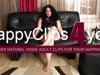 Busty smoking woman Alisa - the fetish mature woman footplay and smoking video