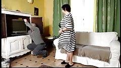 Olga gives blowjob