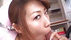 Aya Sakurai nurse gets cum after blowjob