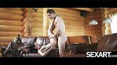 Brazilian big tits bounce as she rides her man's cock