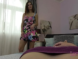 Girl tonguing pussy Jennifer jones makes lucy li cum with her tongue and toys
