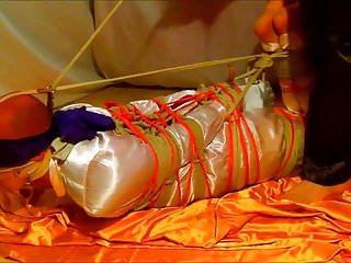 Satin scarv bondage stories Hogtie femdom satin
