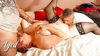 AGEDLOVE – Mature Lady Receiving Threesome