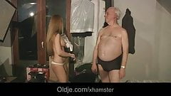 Grandpa spent night with hot Russian babe