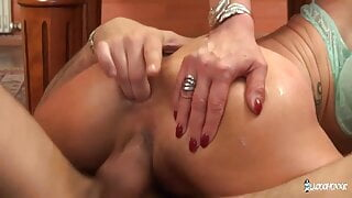 Lyna Cypher – pool game turns into anal session