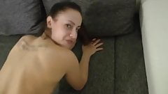 Hot German Babe Blowjob, Riding and Creampie