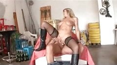My Sexy Piercings - pierced german MILF in stockings fucked