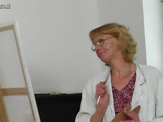 Mature sex models Old granny fucked by young male model