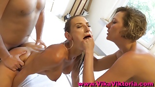 Hardcore MILF Catches him Cheating and Joins in