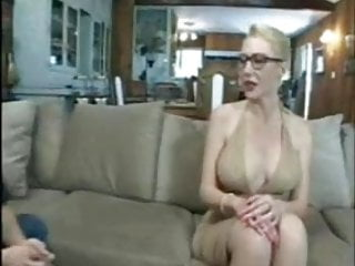 Big blonde cock tit young - Posh mature housewife with glasses fucked by huge white cock