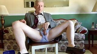Stepdad stripping and masturbating