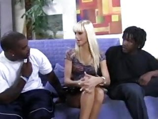 Double interracial teamed - Blonde portuguese hottie gets double teamed by 2 bbcs