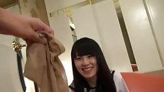 Asian Schoolgirl Footjob