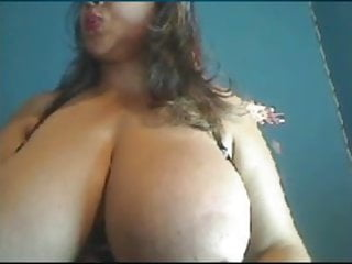 Milf w big boobs Webcams 2014 - colombian milf w huge tits rides dildo