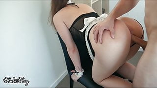 Maid Gets Fucked By Boss And Deep Creampie