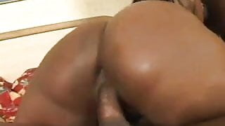 Chocolate Stallion gets worked over by 2 Dicks