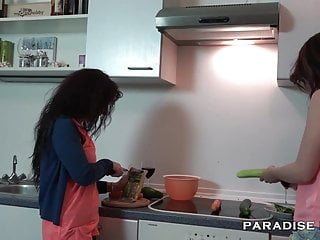 Hot lesbians making out hard - German lesbians making out in the kitchen